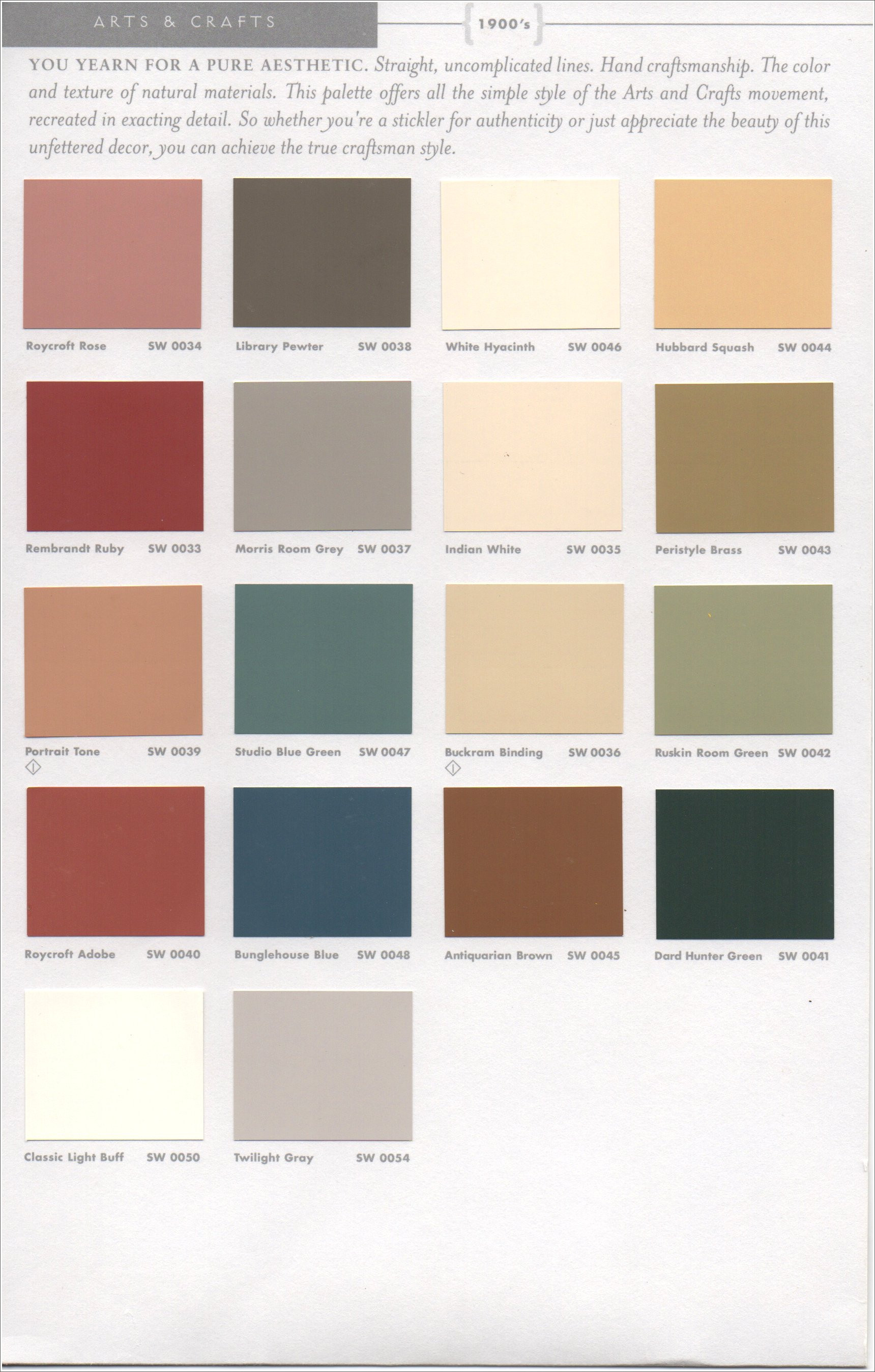 Historic paint colors pt 1 como bungalow Interior design color palettes