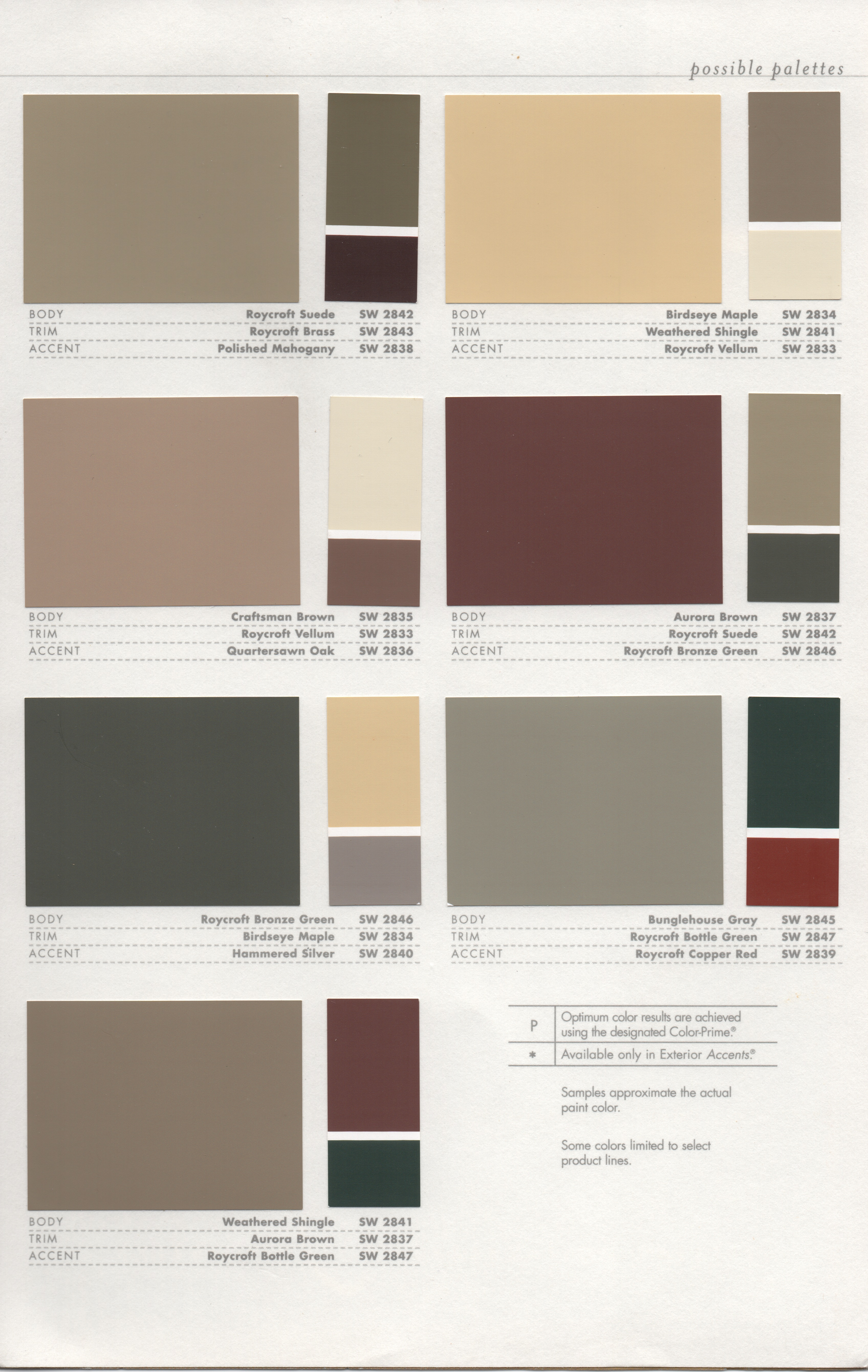 Groovy Paint Colour Scheme Historic Paint Colors Pt 2 Como Bungalow Pin Largest Home Design Picture Inspirations Pitcheantrous